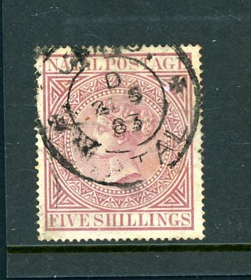 Natal/South Africa  5s Maroon    (SG 31A)    Cat £110    fine-used      (F1155)