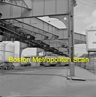Boston Mta Original B&w Trolley Negative Of Pcc Car 3052 At Arborway In 1967