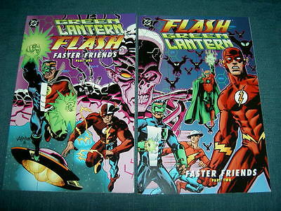 """Green Lantern / Flash : """"faster Friends"""", Complete 2 Issue Delux Series. Dc.1997"""