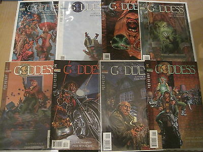 GODDESS : complete 8 ISSUE SERIES by GARTH ENNIS, PHIL WINSLADE. DC VERTIGO.1995
