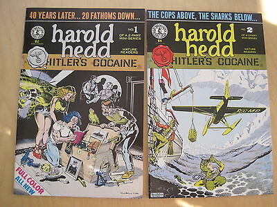 HAROLD HEDD : HITLER'S COCAINE: COMPLETE 2 ISSUE SERIES by RAND HOLMES. KS, 1984