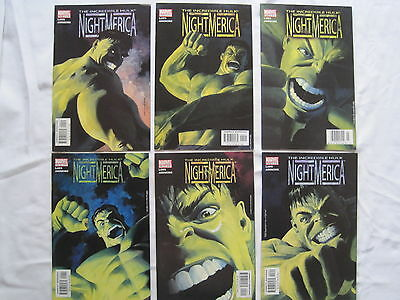 "HULK : ""NightMerica"" : COMPLETE 6 ISSUE SERIES by LAWS & ASHMORE. MARVEL. 2003"