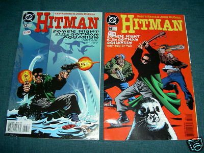 """Hitman  13 & 14 - Complete 2 Part """"zombie Night"""" Story. Dc 1997"""