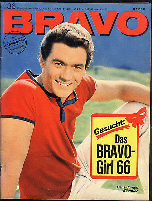 BRAVO Nr.36 vom 29.8.1966 Anthony Perkins, Senta Berger, Rex Gildo, Small Faces