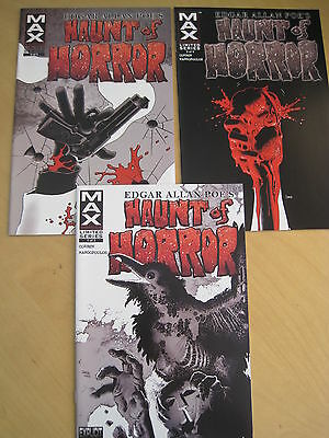 POE's HAUNT of HORROR by RICHARD CORBEN :COMPLETE 3 ISSUE SERIES.MARVEL MAX.2006