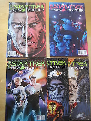 STAR TREK, NEW FRONTIER : COMPLETE 5 ISSUE SERIES by DAVID & THOMPSON. IDW.2008