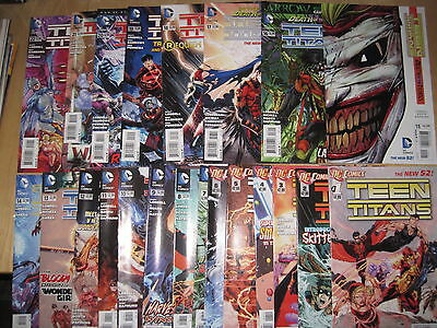 TEEN TITANS : #s 1 - 22, + 0, + ANN 1 COMPLETE. 1st PRINTS. THE NEW 52 ! DC.2011