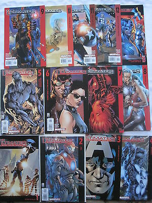 THE ULTIMATES : COMPLETE BRILLIANT 13 ISSUE SERIES by MARK MILLAR & HITCH. 2002