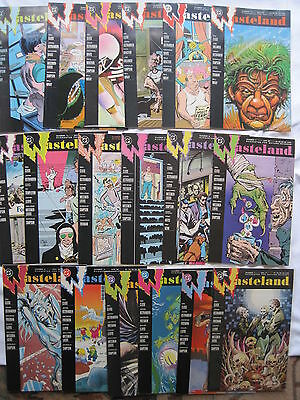 WASTELAND : COMPLETE 18 ISSUE SERIES. LLOYD,SIMPSON etc.VERTIGO FORE RUNNER.1987