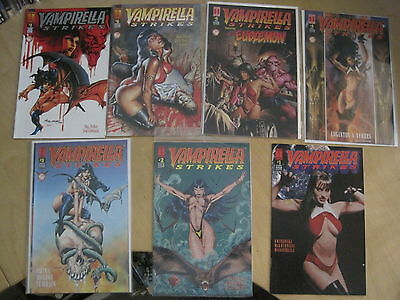 VAMPIRELLA STRIKES :COMPLETE 7 issue HARRIS 1996 SERIES by MARK MILLAR,SNIEGOSKI