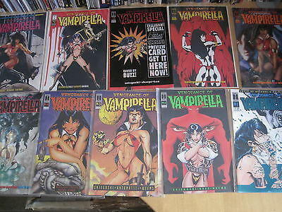 VENGEANCE of VAMPIRELLA  : COMPLETE 25 issue HARRIS 1994 SERIES by SNIEGOSKI etc