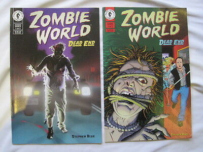 """ZOMBIE WORLD : """"DEAD END""""  complete 2 issue series by STEPHEN BLUE. DH. 1998"""