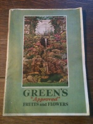 VINTAGE 1931 GREEN'S Approved FRUITS and FLOWERS CATALOG