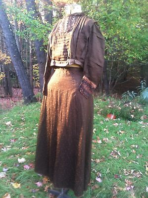 Vintage Antique Victorian 1800's Fine wool Victorian SKIRT and BODICE 36-28-66