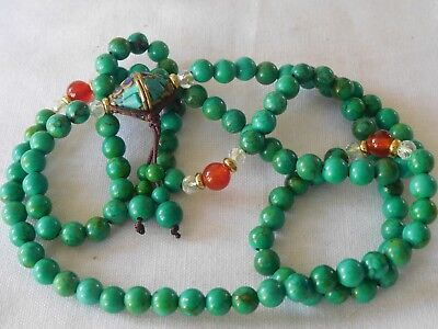 Lovely Vintage Genuine Turquoise Bead Necklace for restringing etc