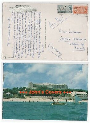1967 BERMUDA Air Mail Cover HAMILTON To CRAHEIM WETZHAUSEN GERMANY Elbow Beach
