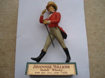 C1960S Vintage Johnnie Walker Scotch Whisky Adv Back Bar Figure