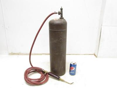 Prestolite 40? cu ft Cubic Foot Acetylene Gas Tank Cutting Brazing Torch Welding