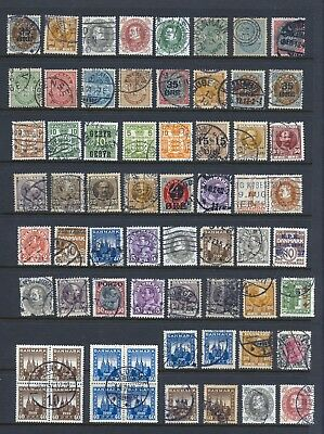DENMARK , 64 x stamps used , minor faults , unsorted