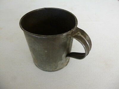 Antique Civil War Era Soldier's Tin Cup, Nice and Solid!