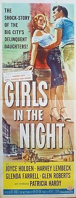 Girls In The Night (1953) Stunning Bad Girl Classic Orig 14X36 Insert Poster!