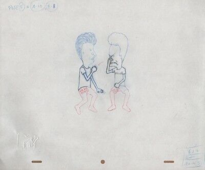 BEAVIS BUTTHEAD Production Cel Original Cell Drawing MTV Animation Mike Judge