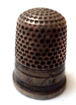 "Stunning Vintage Estate Tested Sterling Silver Sewing 1"" Thimble!!! G6729V"