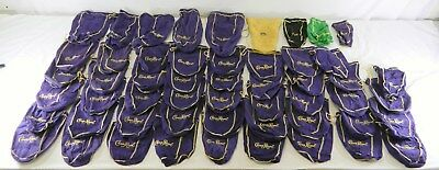 Lot Of 52 Crown Royal Bags - 45 Medium, 6 Large, 1 Small