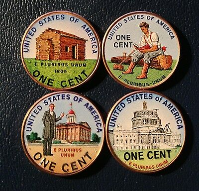 2009 P Colorized Lincoln Cent Set