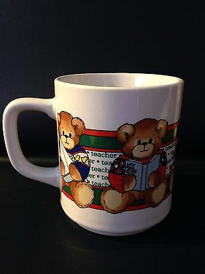 Vintage Lucy & Me Enesco  Rigg Merry Christmas Teacher Coffee Mug Cup # 33