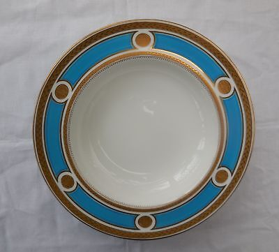 Antique Minton Turquoise & Embossed Gold Rimmed Bowl c1862-72