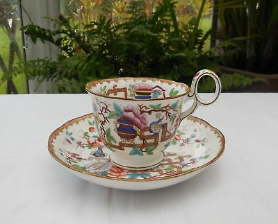 Antique Chinoiserie Minton Chinese Tree 2067 Cup & Saucer c1820-50's