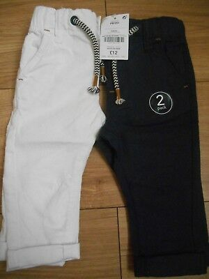 Baby Boys Next Summer Trousers Size Age 6-9 Months x 2.