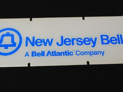 Vintage NEW JERSEY BELL Telephone Phone Booth SIGN Plexiglass Bell Atlantic Co