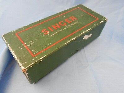 Assorted Vintage Sewing Machine Accessories in a Singer 66K Machine Box