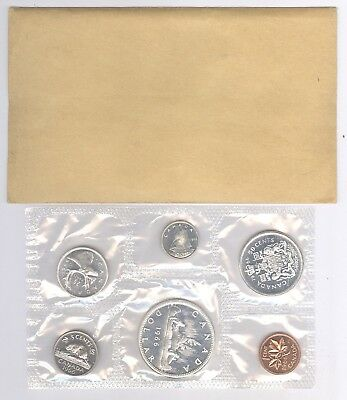 1966 Canadian Uncirculated Mint Set ~ 6 Coin Set + Silver + No Reserve!!
