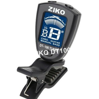 ZIKO DT-100 Mini Clip On ChromaticTuner for Guitar Bass