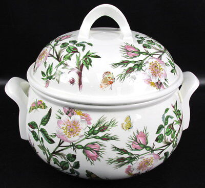 Portmeirion Botanic Garden 4 Qt Round Romantic Covered Daisy Casserole