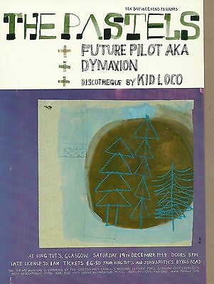 21cm X 15cm Gig Postcard THE PASTELS  FUTURE PILOT AKA  KID LOCO + 1  NEW / MINT