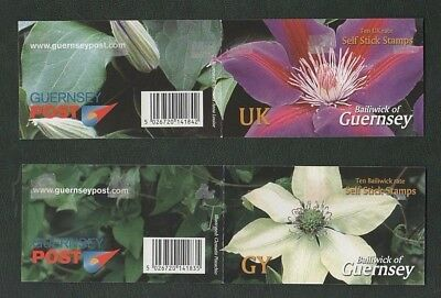 Guernsey 2004 Self Adhesive Booklets Mint Stamps, Clematis Flower