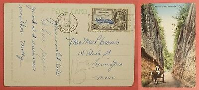 1935 Bermuda Jubilee On Khyber Pass Postcard To Usa