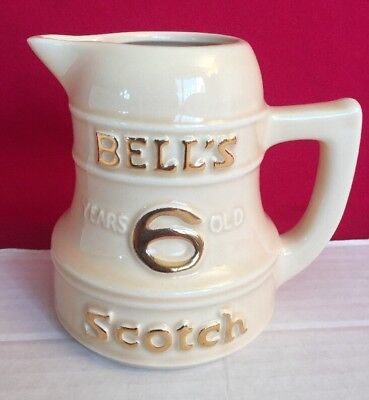Vintage BELL'S 6 YEARS OLD SCOTCH WHISKEY Pub Jug Tavern Advertising Pitcher Bar