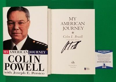 """Colin Powell Signed Hardcover Book """"my American Journey"""" With Beckett Bas Coa"""
