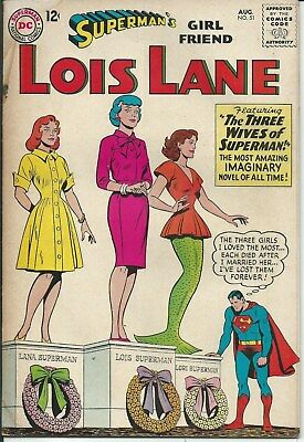 No Reserve Sale! Lois Lane No. 51 (1964) In Very Good Condition