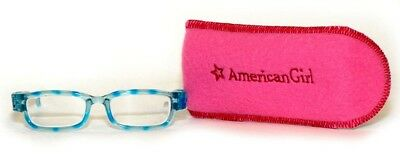 American Girl Turquoise Glasses~Case! New! Truly Me~Tenney~Luciana~Z Yang Doll!