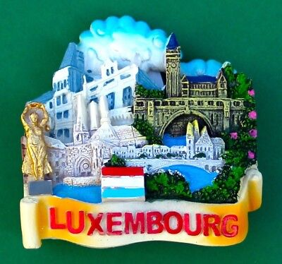 Souvenir Fridge Magnet Luxembourg All The Sights