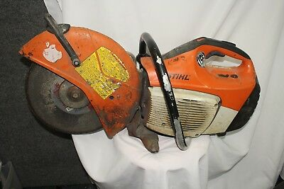 """Stihl TS420 14"""" 66.7cc Gas Powered Cutquik Commercial Concrete Cut-Off Saw Used"""