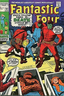 Fantastic Four # 101 - Alicia Masters And Franklin Cameos - Jack Kirby Art
