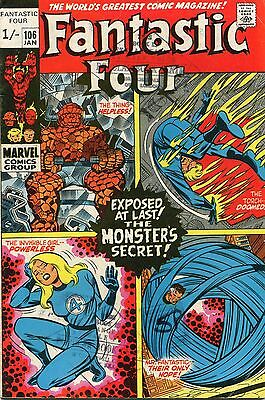 Fantastic Four # 106 - The Monsters Secret - John Romita Art