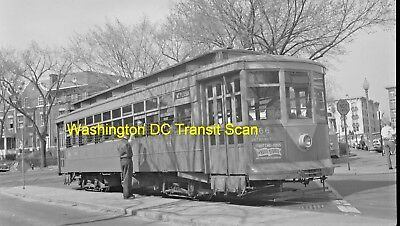 Capital Transit (Washington Dc) Original B&w Trolley Negative Car 766 In 1961